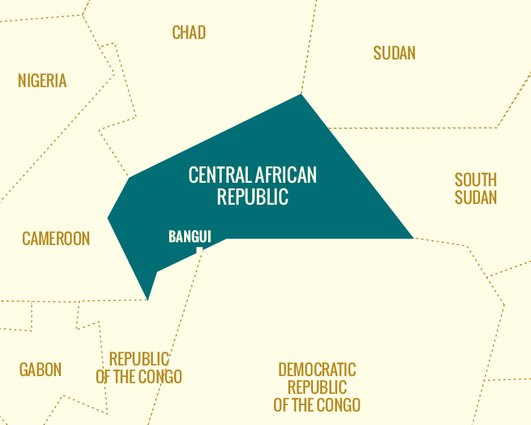 Illustration : Central African Republic Map