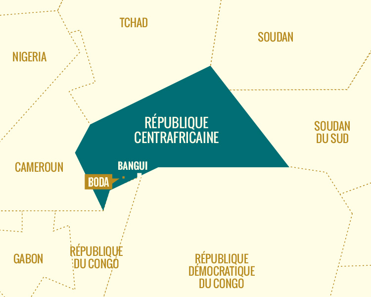 Illustration : Carte République Centrafricaine
